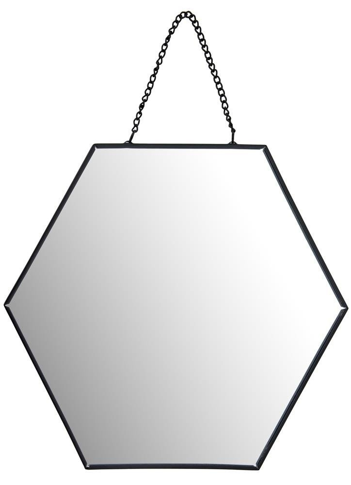 Wall Mirror In The Shape Of Hexagon With A Black Border Perfect For Any Room Bathroom Bedroom Hall Social This Essential Thing Enables